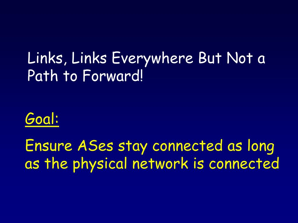 Links, Links Everywhere But Not a Path to Forward!