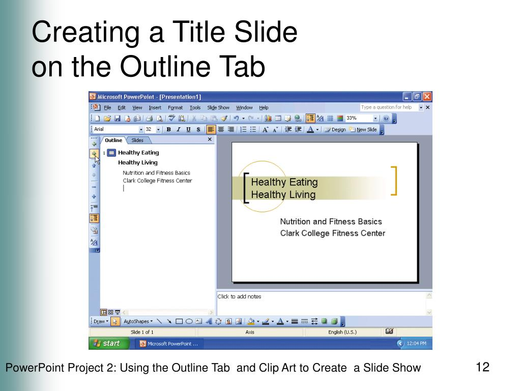 Creating a Title Slide