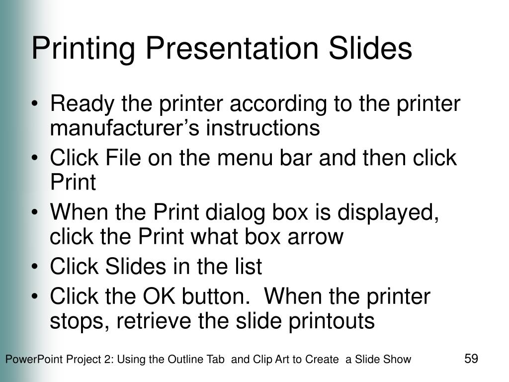 Printing Presentation Slides