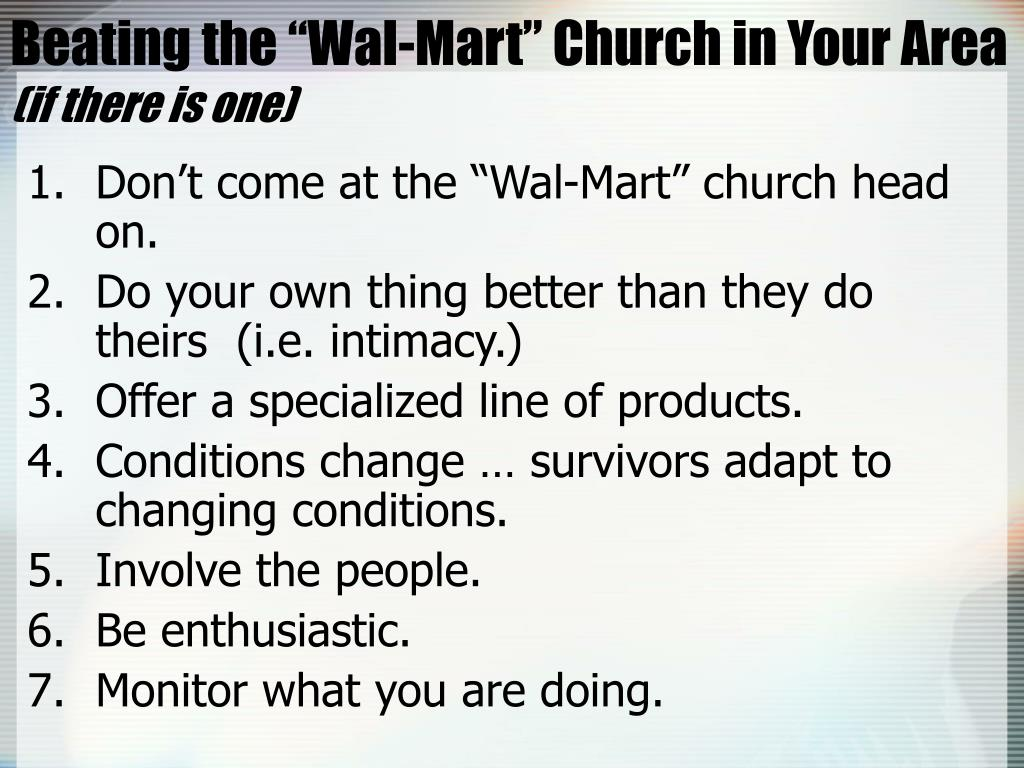 """Beating the """"Wal-Mart"""" Church in Your Area"""