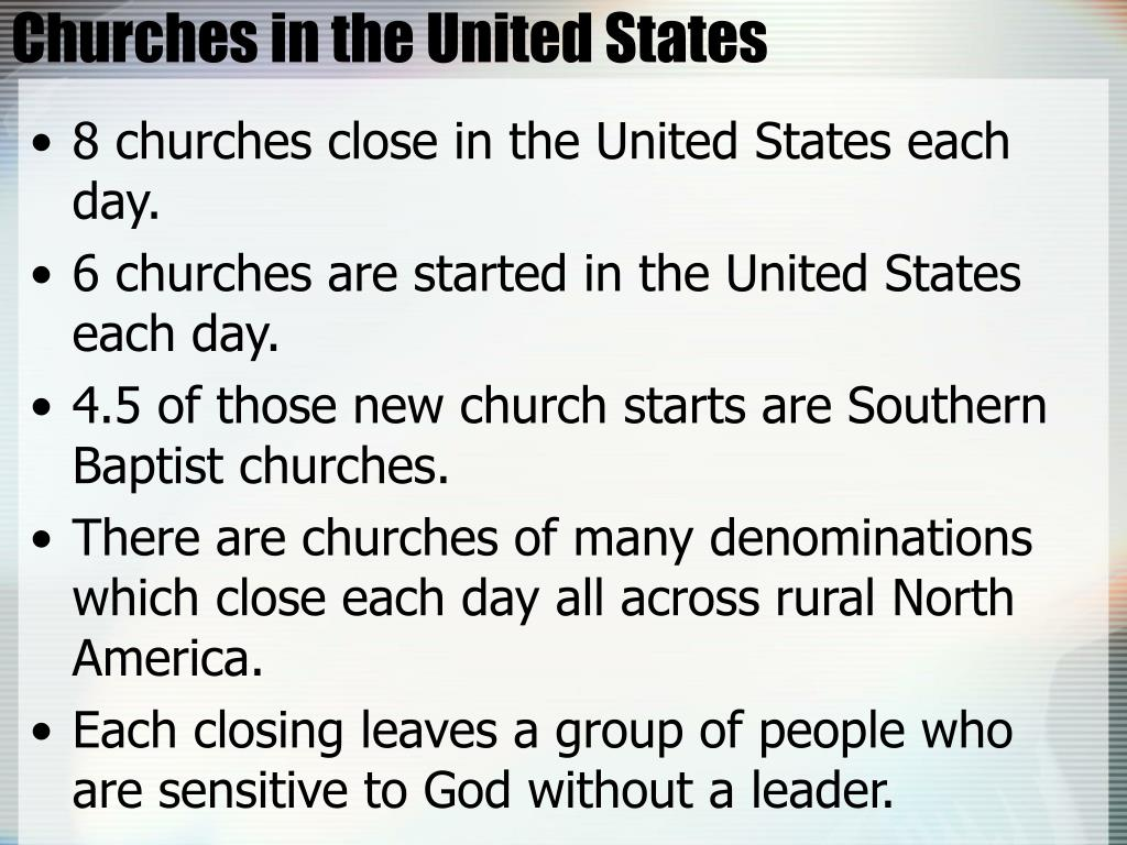 Churches in the United States
