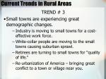 current trends in rural areas78