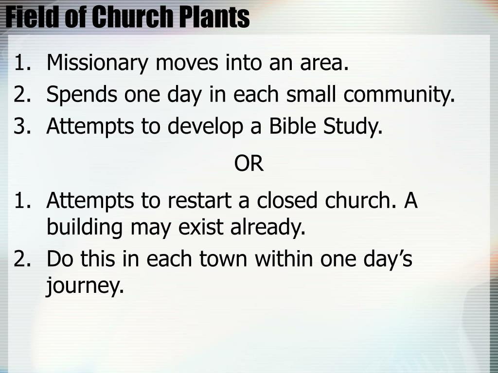 Field of Church Plants