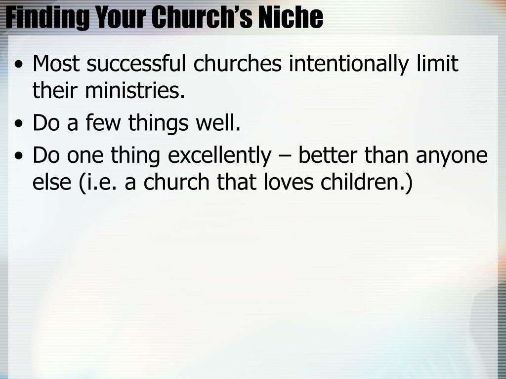 Finding Your Church's Niche