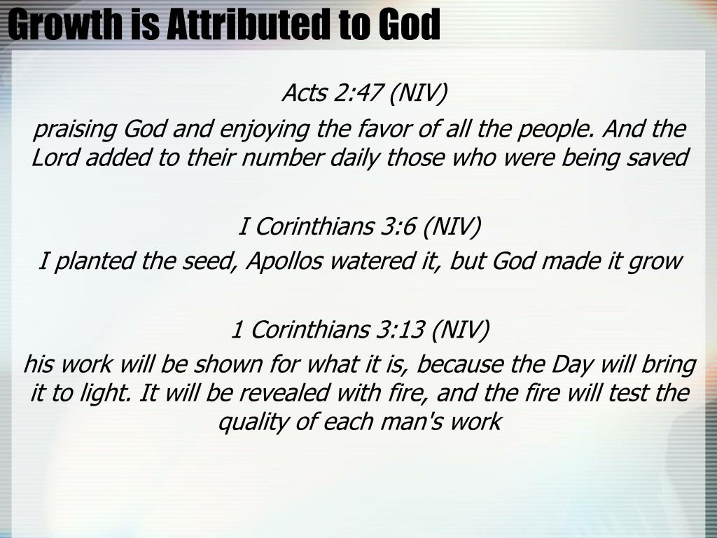 Growth is Attributed to God