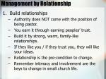 management by relationship