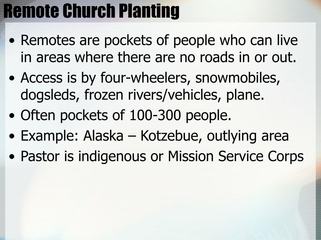 Remote Church Planting