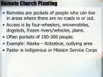 remote church planting