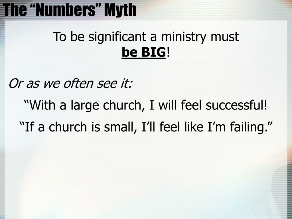 """The """"Numbers"""" Myth"""