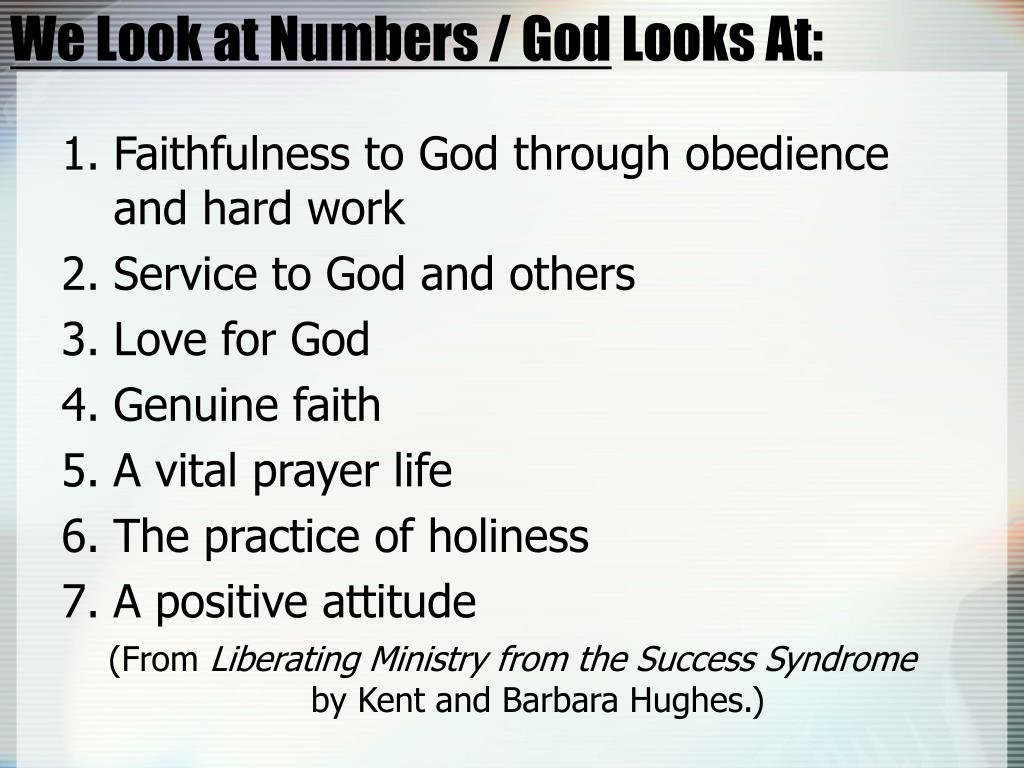 We Look at Numbers / God