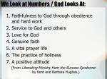 we look at numbers god looks at