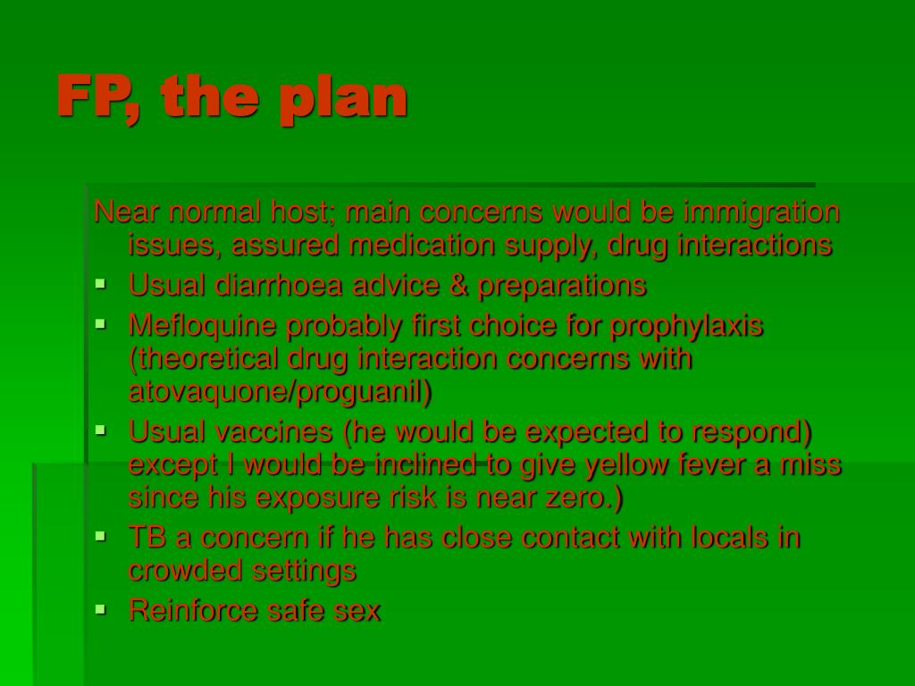 FP, the plan