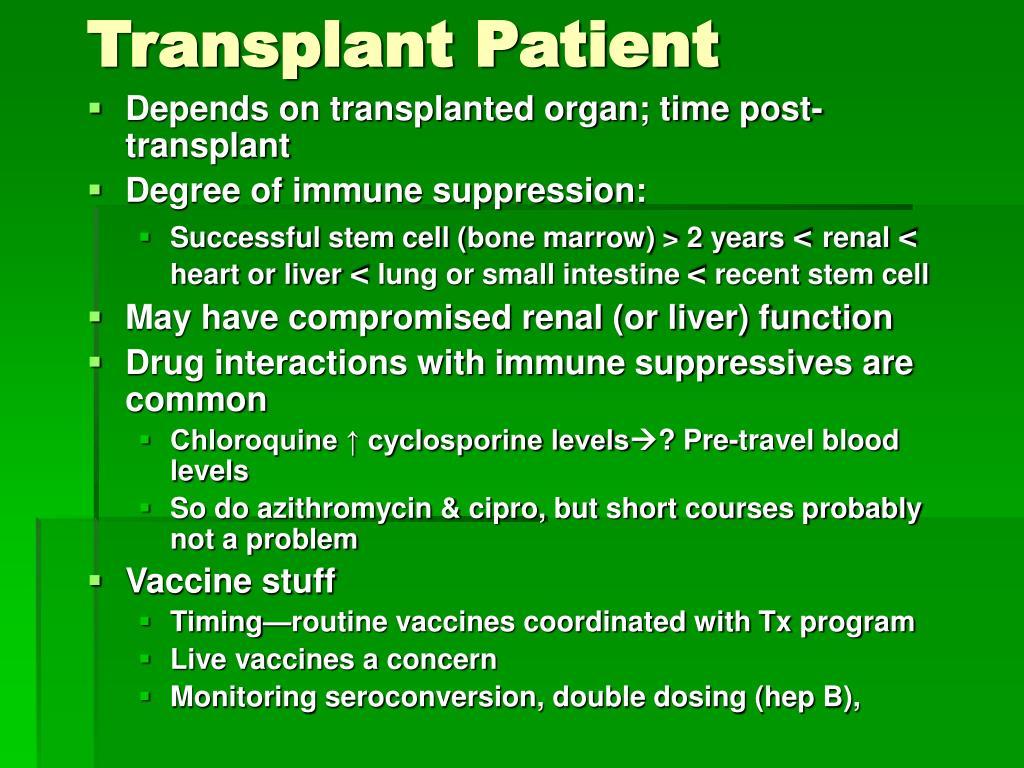 Transplant Patient