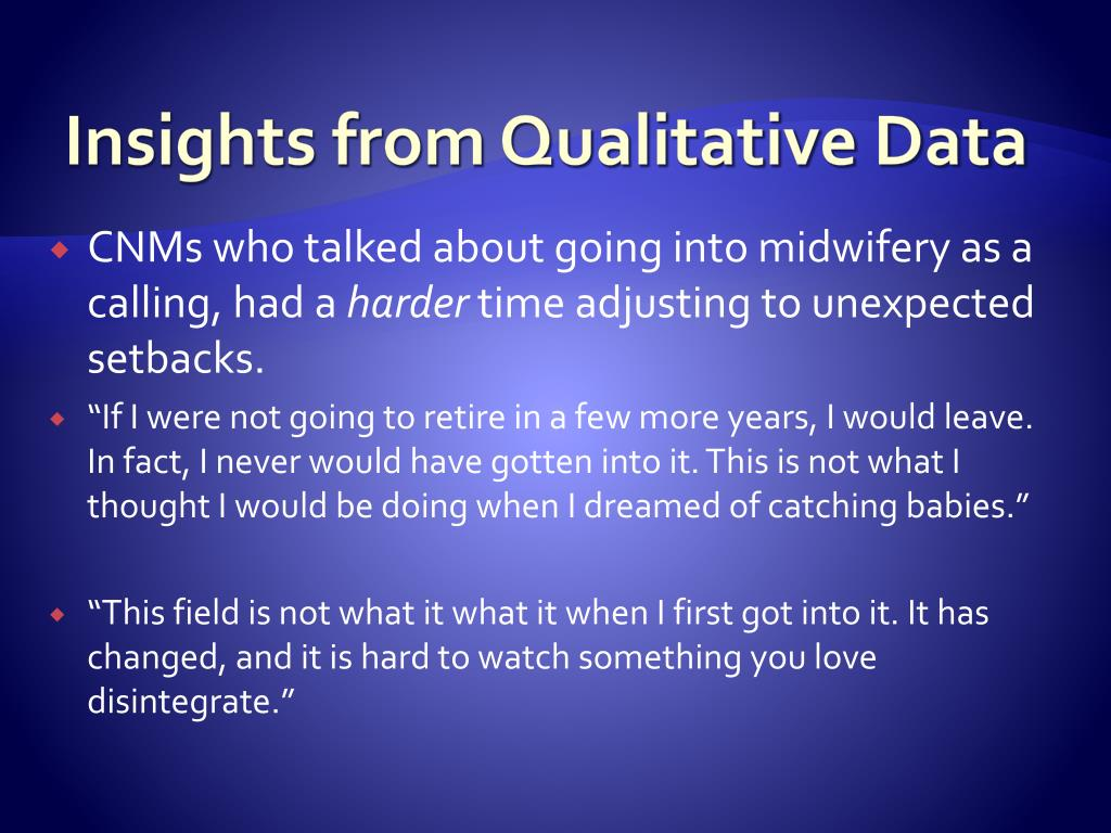 Insights from Qualitative Data