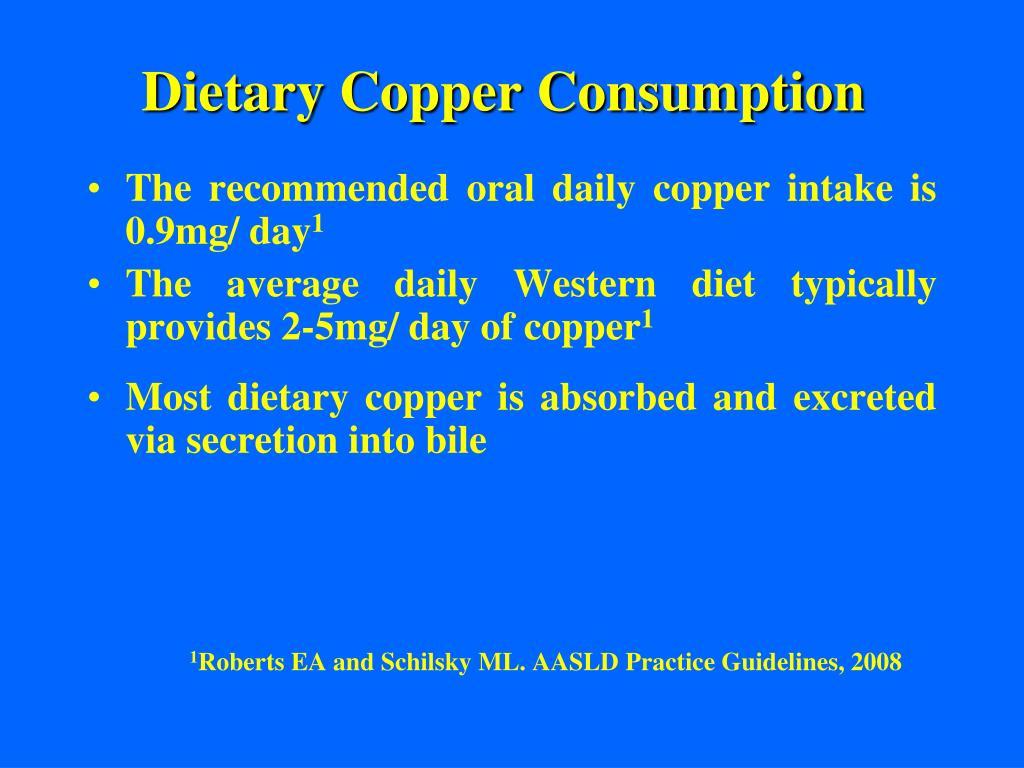 Dietary Copper Consumption