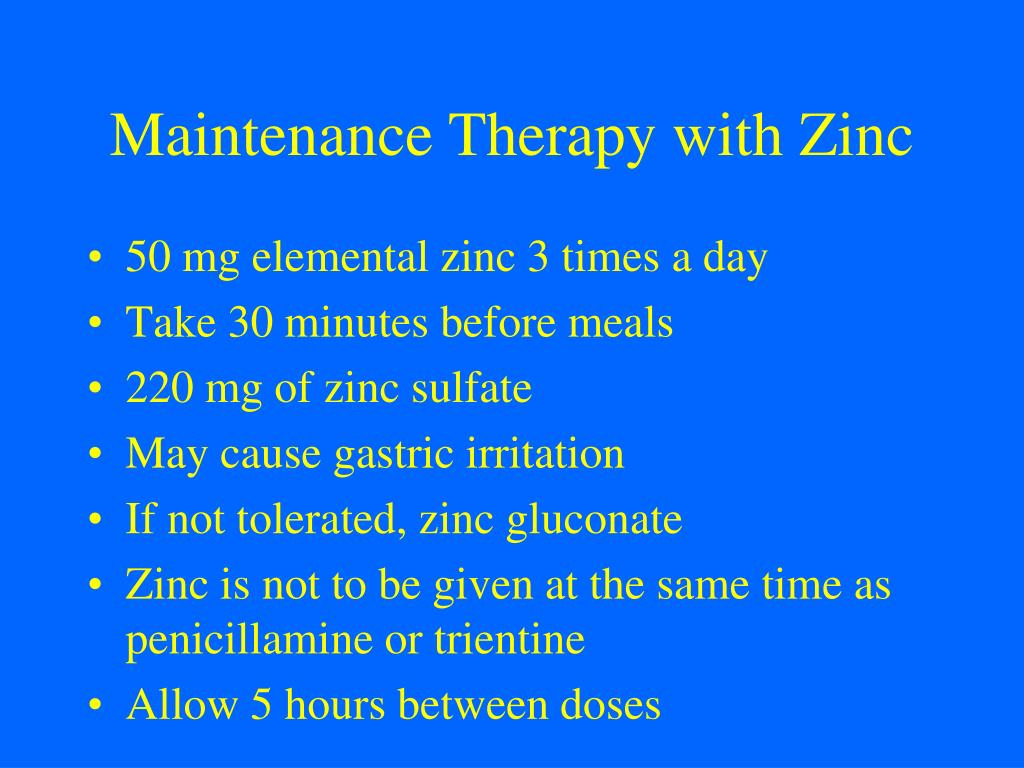Maintenance Therapy with Zinc