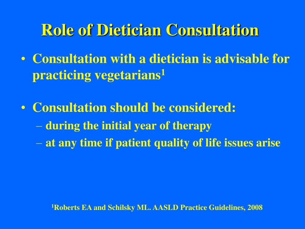 Role of Dietician Consultation