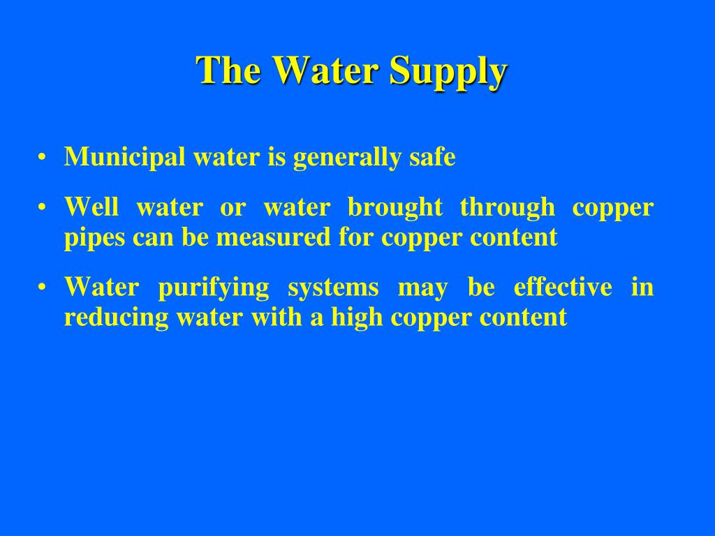 The Water Supply
