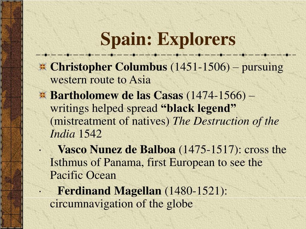 Spain: Explorers