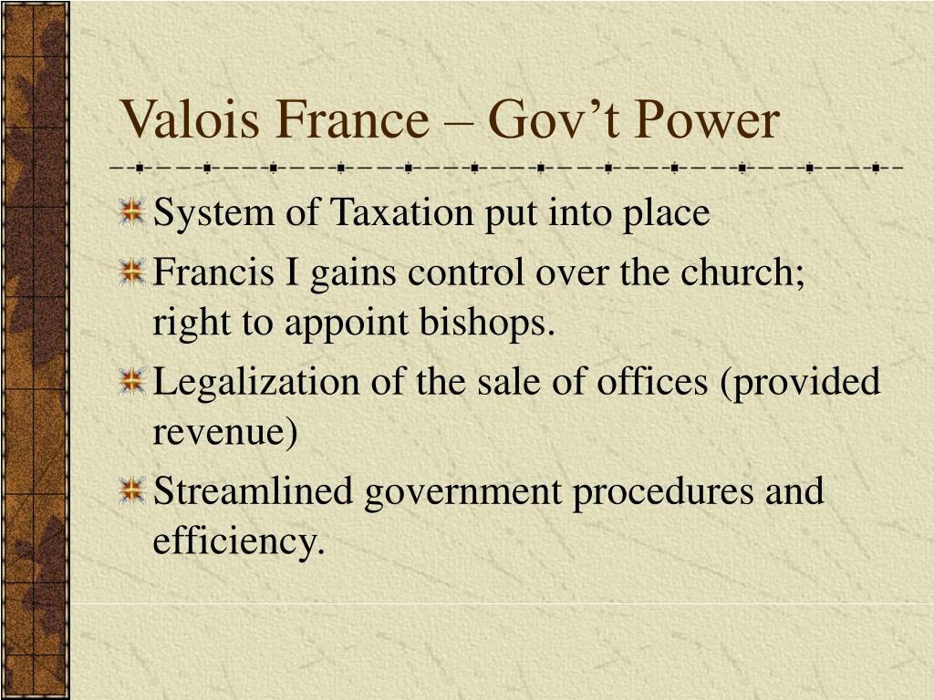 Valois France – Gov't Power