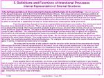 5 definitions and functions of intentional processes internal representation of external structures