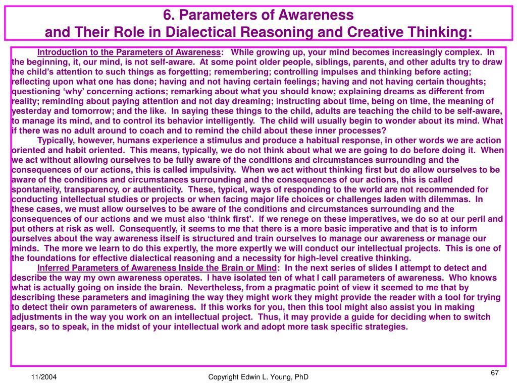 6. Parameters of Awareness