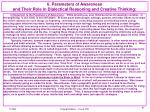 6 parameters of awareness and their role in dialectical reasoning and creative thinking