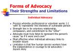 forms of advocacy their strengths and limitations14