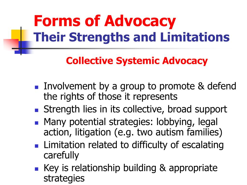 Forms of Advocacy