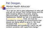 pat deegan mental health advocate