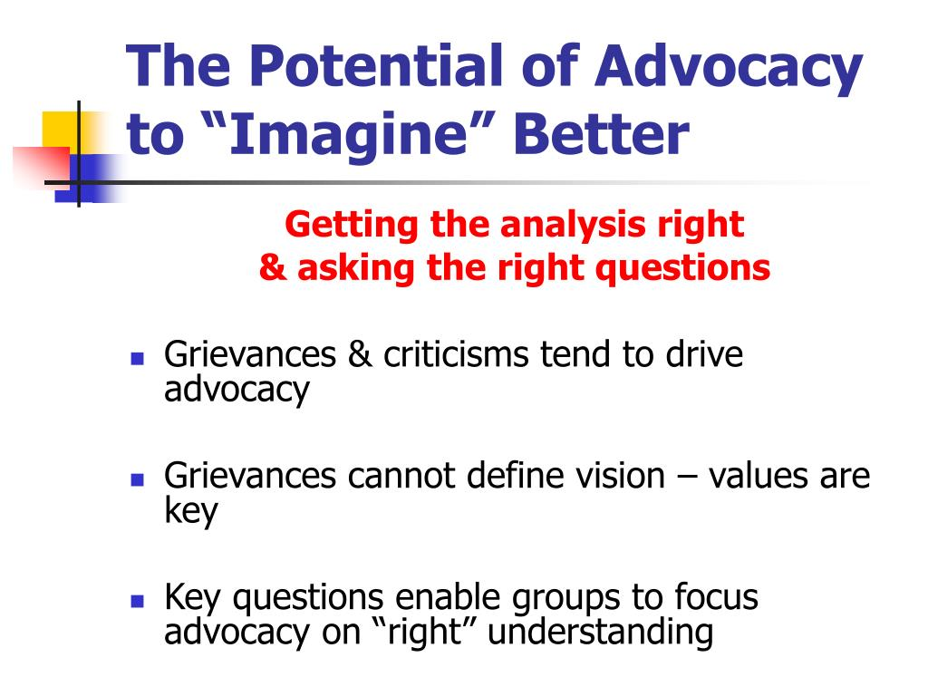 """The Potential of Advocacy to """"Imagine"""" Better"""