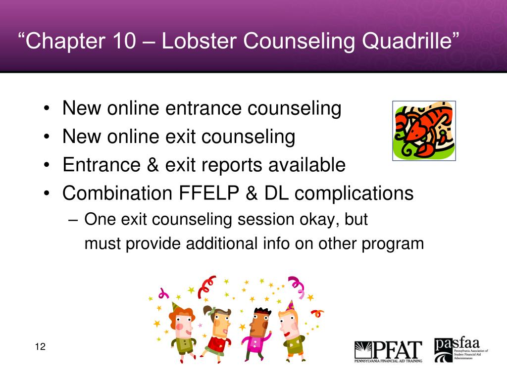 """Chapter 10 – Lobster Counseling Quadrille"""