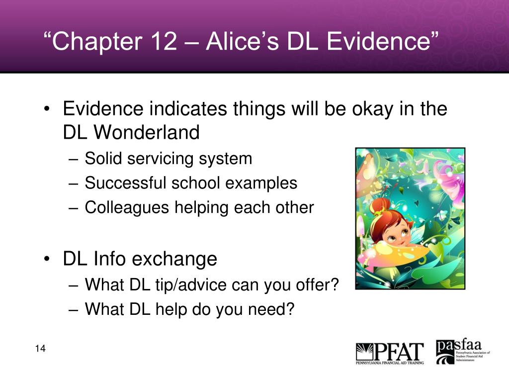 """Chapter 12 – Alice's DL Evidence"""