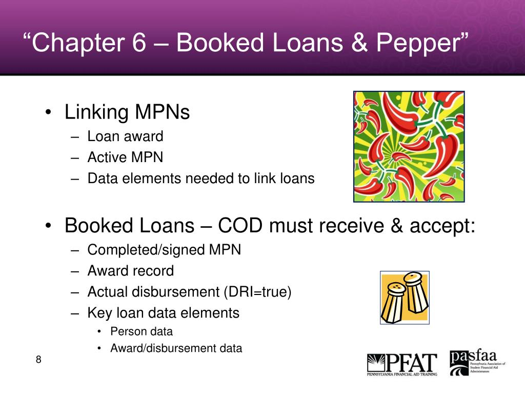 """Chapter 6 – Booked Loans & Pepper"""