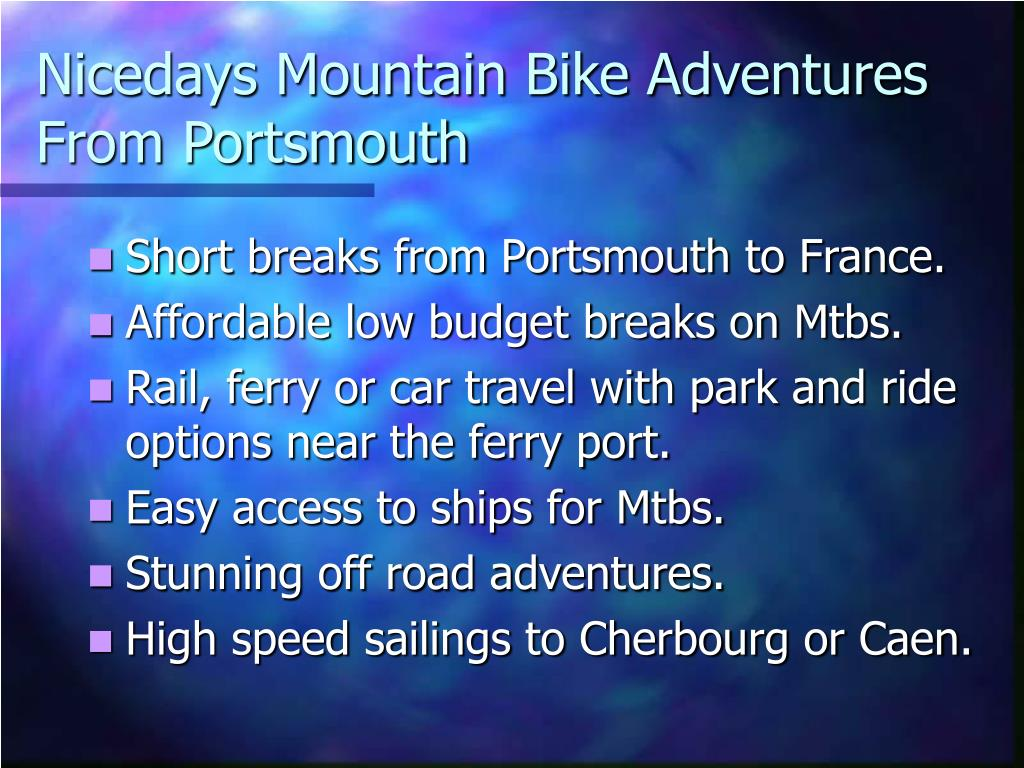 nicedays mountain bike adventures from portsmouth