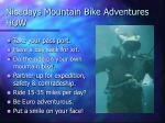 nicedays mountain bike adventures how