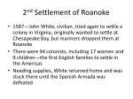 2 nd settlement of roanoke