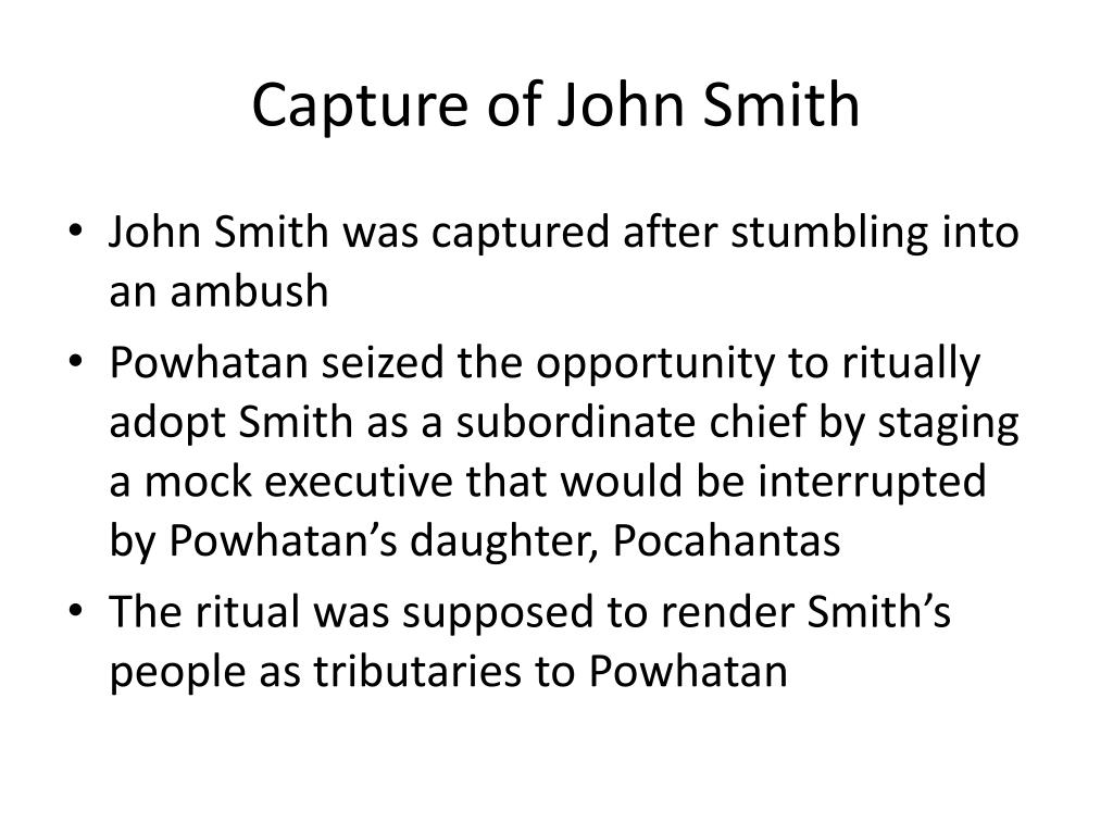 Capture of John Smith