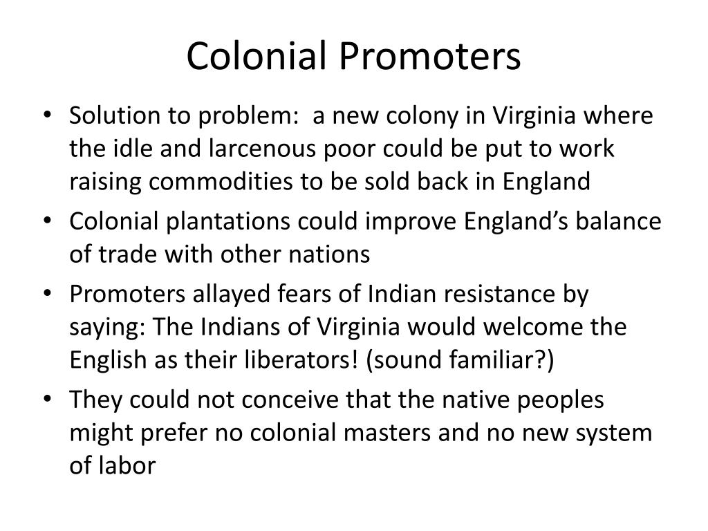 Colonial Promoters
