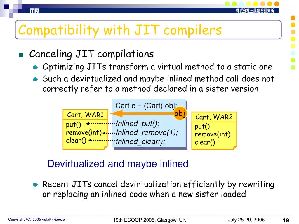 Compatibility with JIT compilers