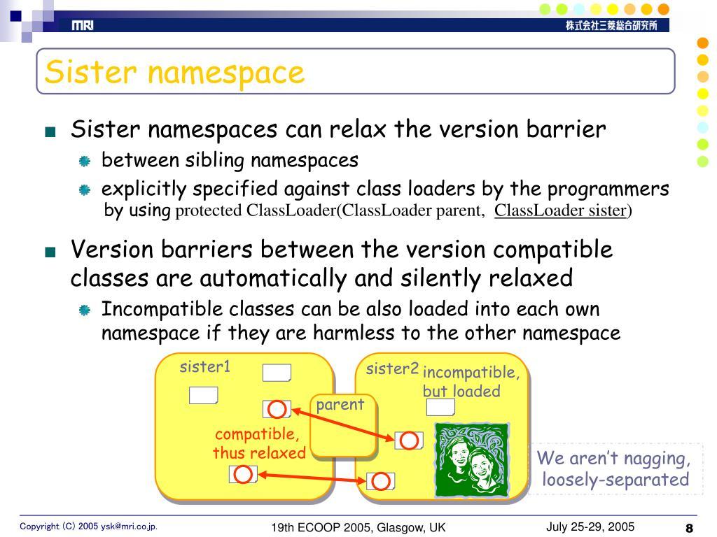 Sister namespace