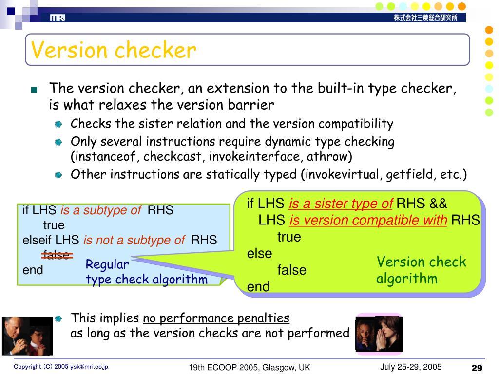 Version checker