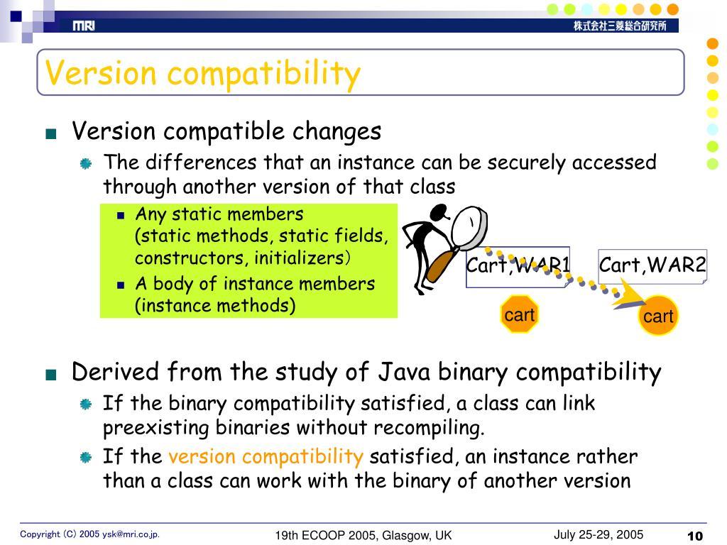 Version compatibility