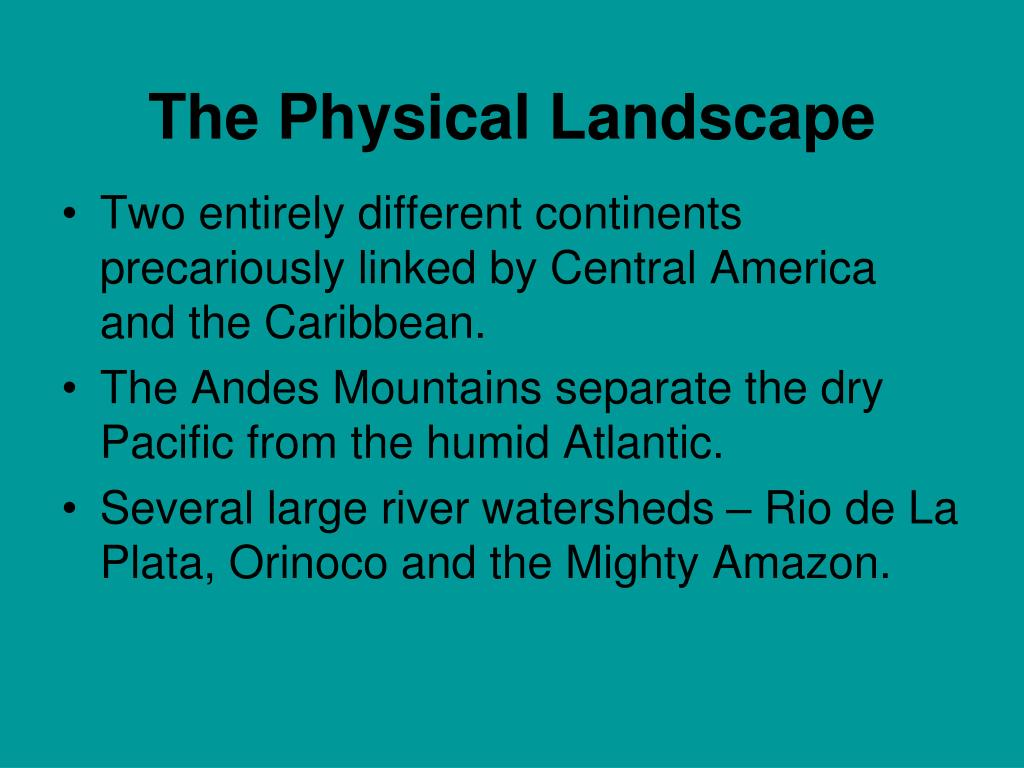 The Physical Landscape