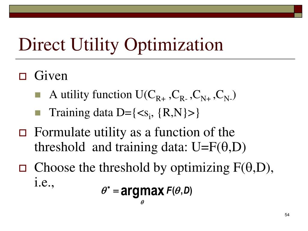 Direct Utility Optimization
