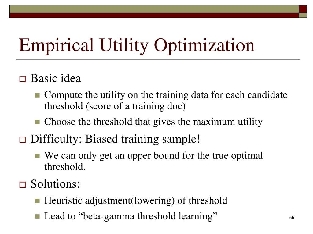 Empirical Utility Optimization