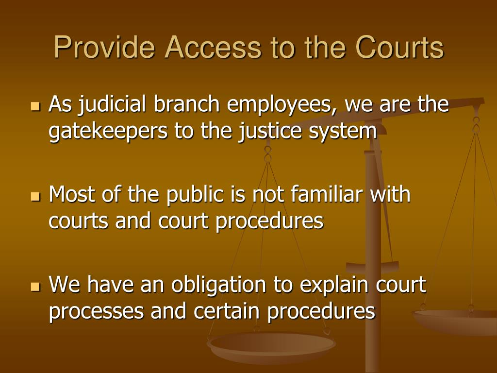 Provide Access to the Courts