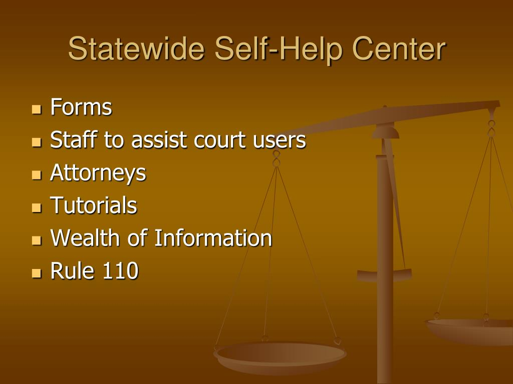 Statewide Self-Help Center