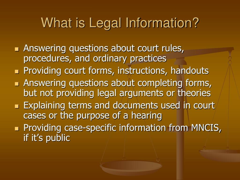What is Legal Information?