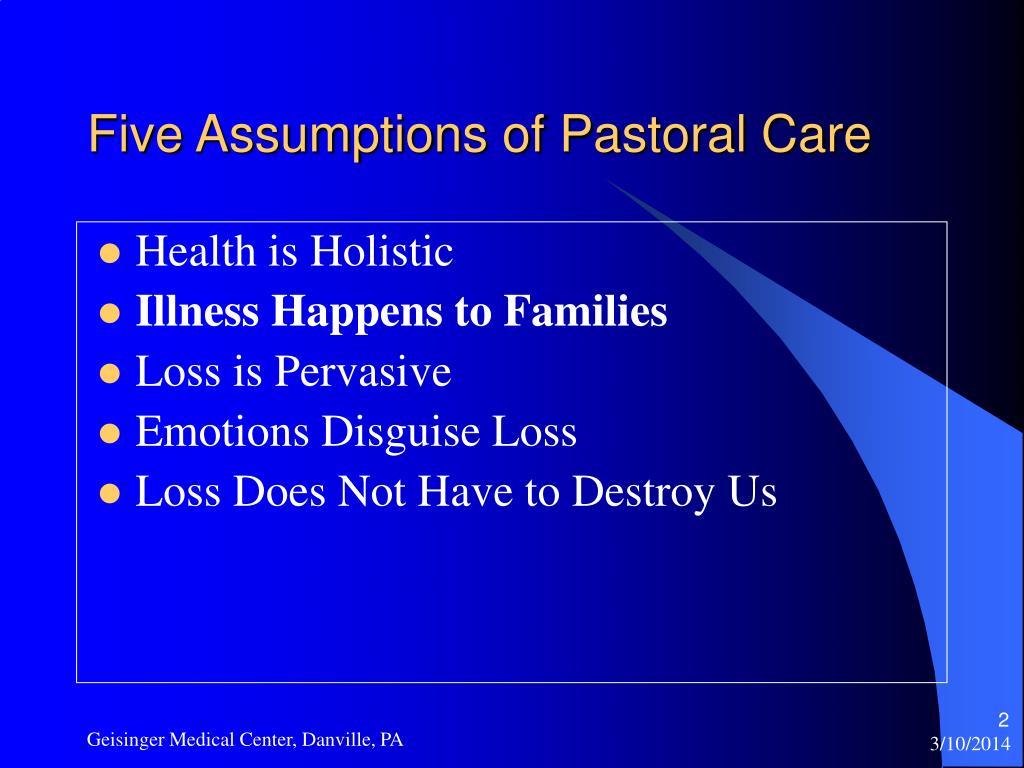 Five Assumptions of Pastoral Care